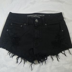 American Eagle Outfitters Black Festival Shorts